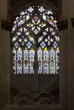 Batalha Monastery. Gothic Stained Glass window in Capela do Fundador Royalty Free Stock Photos