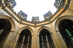 Batalha Monastery inperfect chapels. Incomplete dome of the imperfect chapel at Batalha Monastery Royalty Free Stock Photos
