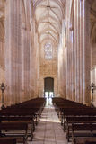 Batalha Monastery. Nave, Aisles and entrance of the Church Stock Photography