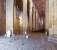 Batalha Monastery. Nave and Altar of the Church Stock Photos