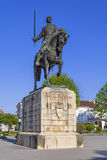 Batalha Monastery. Nuno Alvares Pereira statue. One of Portugal most important national heroes. Medieval noble and knight. Portugal. UNESCO World Heritage Site Stock Image
