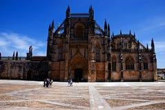 Visitors at Batalha Monastery Stock Photo