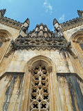 Batalha Monastery Portugal. Close up view of the exterior of Batalha Monastery in Portugal.  Shows example of ornate medieval architecture Stock Image