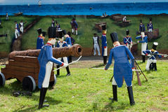 A batalha naval Fotos de Stock Royalty Free