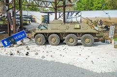 Batalha no aeroporto de Donetsk Fotografia de Stock Royalty Free