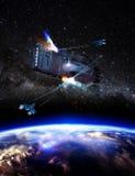 Batalha no espaço Imagem de Stock