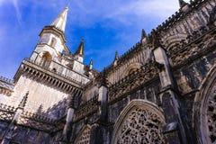 Batalha, Portogallo Dettaglio del convento reale dell'abbazia di Batalha Gotico, Manuelino fotografia stock libera da diritti