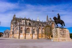 Batalha, Portugal. Monastery of Batalha. Gothic and Manuelino or Manueline style stock image