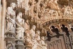 Batalha Santa Maria da Vitoria Dominican abbotskloster, Portugal Arkivfoton