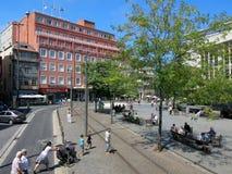 Batalha Square in Porto Stock Images