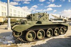 Batalistycznego zbiornika retro eksponat militarnej historii muzeum, Rosja, Yekaterinburg, 31 03 2018 Zdjęcia Stock