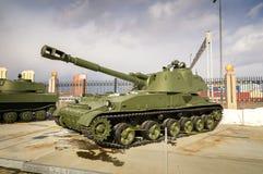 Batalistycznego zbiornika retro eksponat militarnej historii muzeum, Rosja, Yekaterinburg, 31 03 2018 Zdjęcie Stock