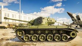 Batalistycznego zbiornika retro eksponat militarnej historii muzeum, Rosja, Yekaterinburg, 31 03 2018 Obrazy Royalty Free
