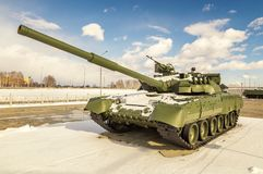 Batalistycznego zbiornika retro eksponat militarnej historii muzeum, Rosja, Yekaterinburg, 31 03 2018 Obraz Royalty Free