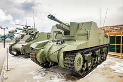 Batalistycznego zbiornika retro eksponat militarnej historii muzeum, Rosja, Yekaterinburg, 31 03 2018 Zdjęcia Royalty Free