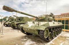 Batalistycznego zbiornika retro eksponat militarnej historii muzeum, Rosja, Yekaterinburg, 31 03 2018 Fotografia Royalty Free