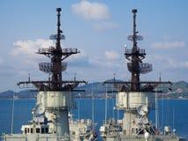 Batalistyczny statku radar Zdjęcia Royalty Free