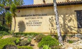 Batallón mormón en San Diego Historic Site - SAN DIEGO - CALIFORNIA - 21 de abril de 2017 Fotos de archivo libres de regalías