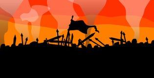 Batalla Imagen de archivo libre de regalías