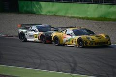 Batalla abierta de Chevrolet Corvette C6/ZR1 GT en Monza Fotos de archivo