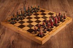 Batalla Catolic del ajedrez y eslavo Imágenes de archivo libres de regalías