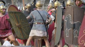 Batalla civil antigua de Roma almacen de metraje de vídeo