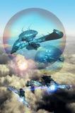 Batalla de aire ilustración del vector