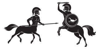 Batalla de centauros Fotos de archivo