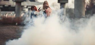 Batalla de dos mutantes Fotos de archivo