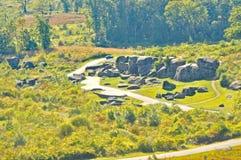 Batalla de Gettysburg: La guarida del diablo Imágenes de archivo libres de regalías