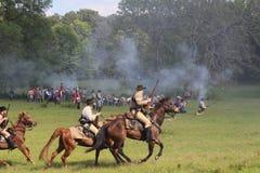 Batalla de la guerra civil Foto de archivo libre de regalías