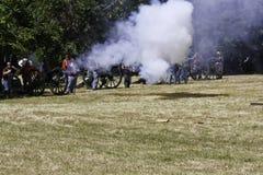 Batalla de la guerra civil Fotos de archivo libres de regalías