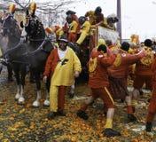 Batalla de la naranja Foto de archivo