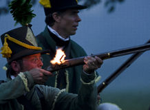 Batalla de la noche Foto de archivo libre de regalías