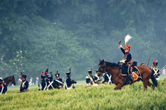 Batalla de la repromulgación de Waterloo, Bélgica 2009 Fotografía de archivo libre de regalías