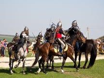 Batalla de los caballeros Imagen de archivo