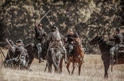 Batalla de los exploradores él hacia fuera Imagen de archivo libre de regalías