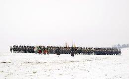 Batalla de los tres emperadores - reconstrucción Foto de archivo libre de regalías
