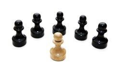 Batalla del ajedrez Fotos de archivo libres de regalías