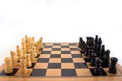 Batalla del ajedrez Imágenes de archivo libres de regalías