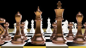 Batalla del ajedrez Fotografía de archivo
