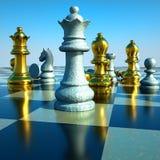 Batalla del ajedrez Fotografía de archivo libre de regalías