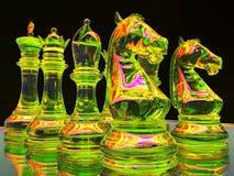 Batalla del ajedrez Imagenes de archivo