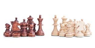 Batalla del ajedrez Imagen de archivo