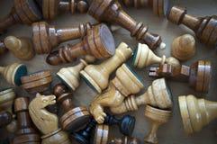 Batalla del ajedrez Foto de archivo libre de regalías
