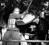 Batalla del caballero en Jerusalén Fotografía de archivo