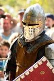 Batalla del caballero en Jerusalén Foto de archivo libre de regalías