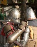 Batalla del caballero en Jerusalén Imagen de archivo