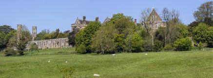 Batalla del campo de batalla de Hastings y batalla Abbey Panorama Fotografía de archivo