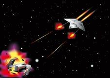 Batalla del espacio Fotografía de archivo